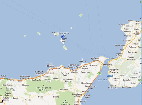 I girasoli casa vacanza a lipari isole eolie dove siamo for Creatore della mappa della casa
